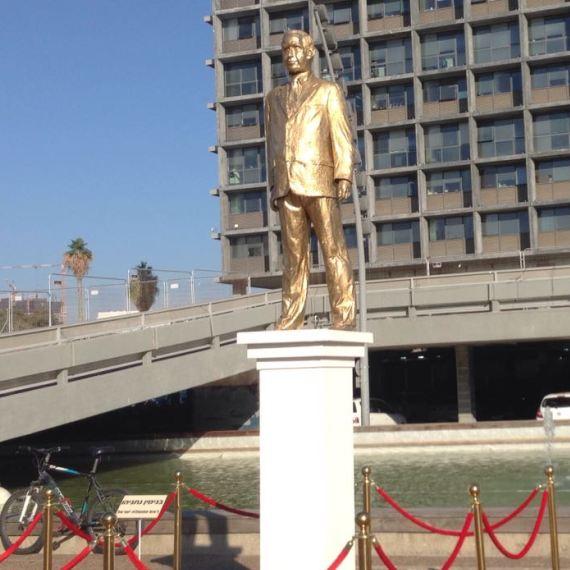 פסל ראש הממשלה בנימין נתניהו