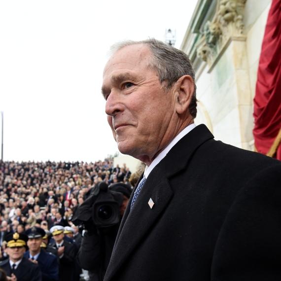 """נשיא ארה""""ב לשעבר, ג'ורג' בוש הבן"""