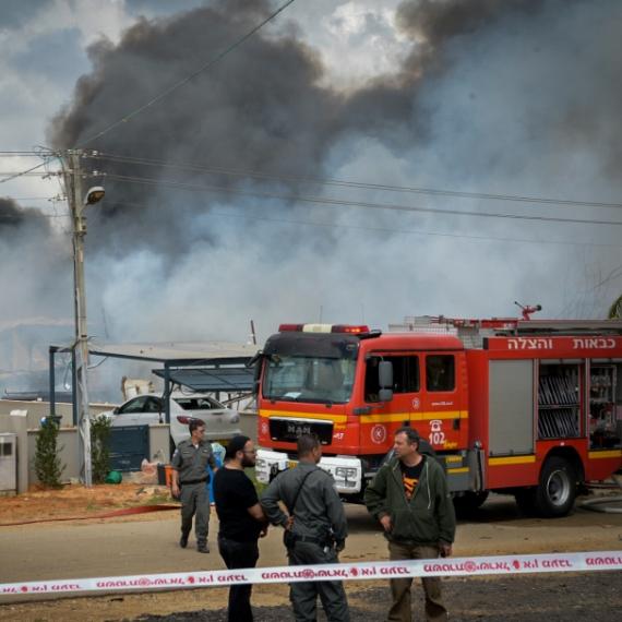 שריפה במחסן זיקוקים