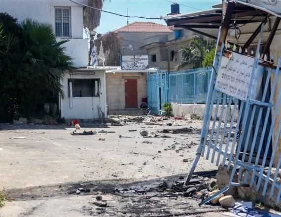 תחנת המשטרה בכפר קאסם