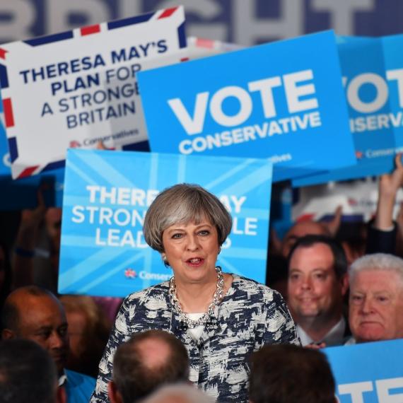תרזה מיי הבחירות בבריטניה
