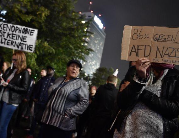הפגנה בבחירות לגרמניה