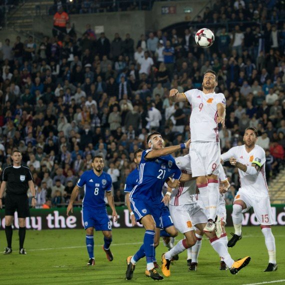 נבחרת ישראל משחקת נגד נבחרת ספרד