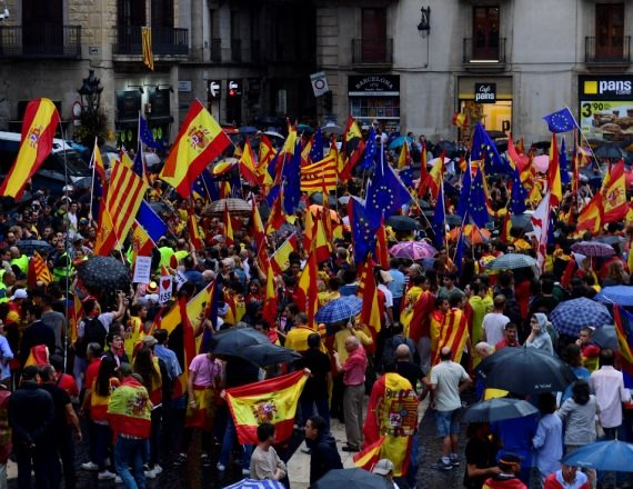 הפגנה בחבל קטלוניה בספרד