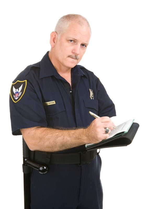 שוטר דוח חניה