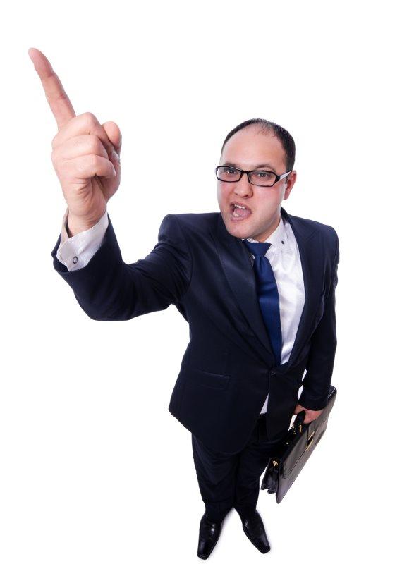 איש עסקים מתעצבן