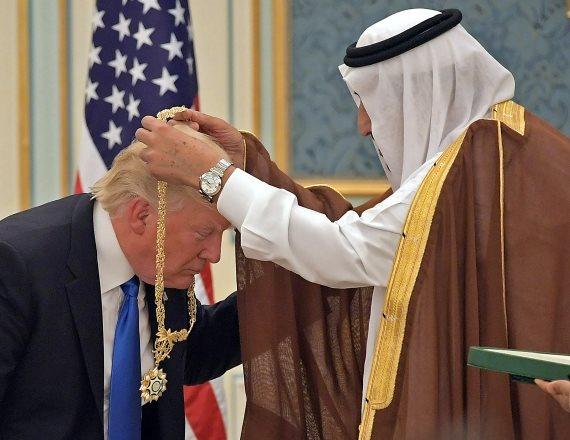 טראמפ ומלך סעודיה