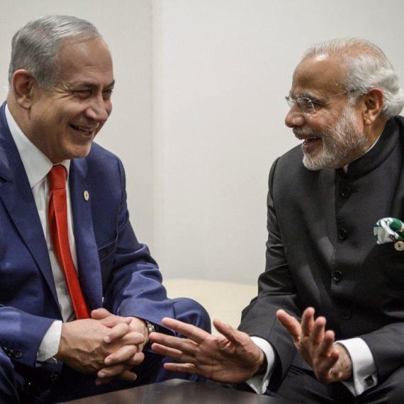 ראש הממשלה בנימין נתניהו וראש ממשלת הודו נרנדרה מודי