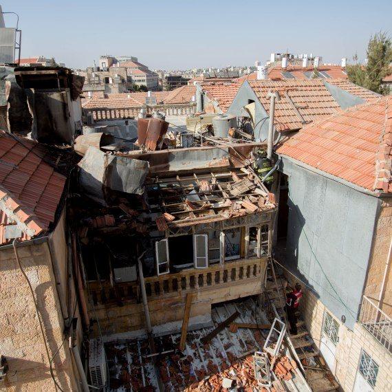 פיצוץ מיכל גז בירושלים