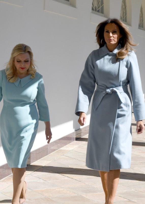 שרה נתניהו ומלאניה טראמפ