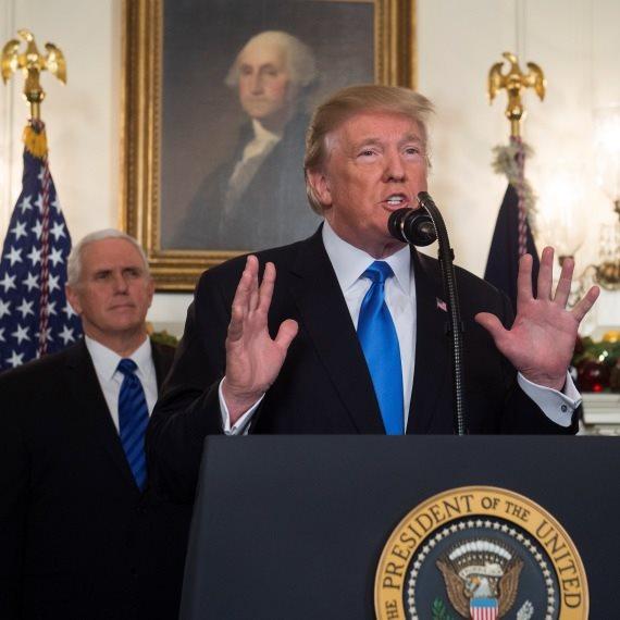 """הצהרת נשיא ארה""""ב דונלד טראמפ על ההכרה בירושלים"""