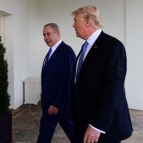 """ראש הממשלה בנימין נתניהו ונשיא ארה""""ב דונלד טראמפ"""