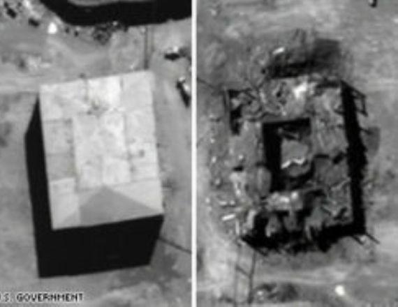 תצלומי אוויר של אתר הכור הגרעיני בסוריה, לפני ואחרי ההפצצה