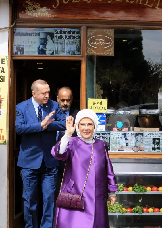 נשיא טורקיה רג'פ טאיפ ארדואן ורעייתו