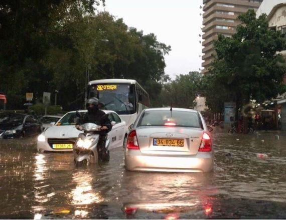 מזג אוויר סוער בתל אביב