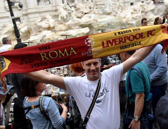 אוהדים ברומא לקראת חצי גמר ליגת האלופות
