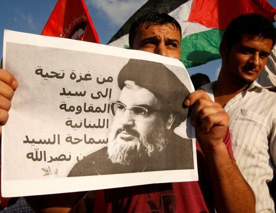 הפגנת תמיכה בחיזבאללה בלבנון