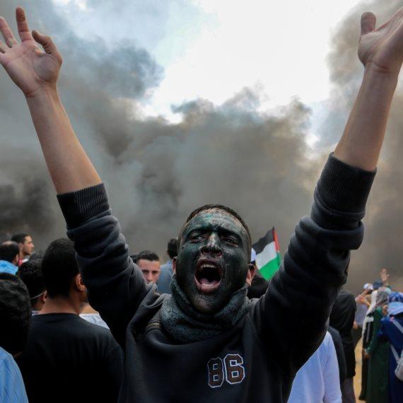פלסטיני בהתפרעויות ברצועת עזה