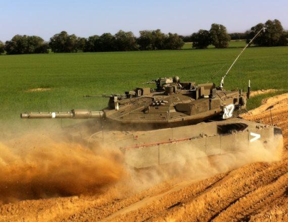 טנק מסייר ביישובי עוטף עזה