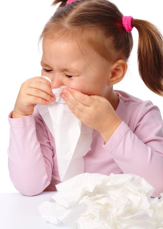 ילדה אלרגית