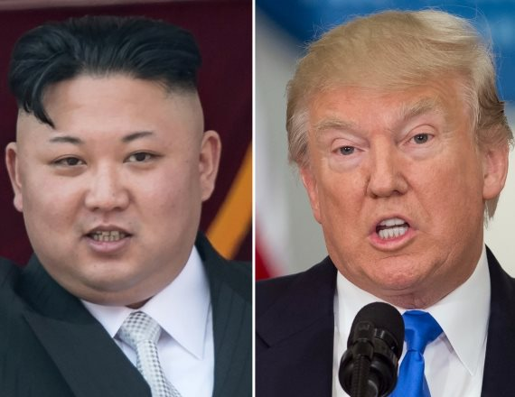 דונלט טראמפ וקים ג'ונג און