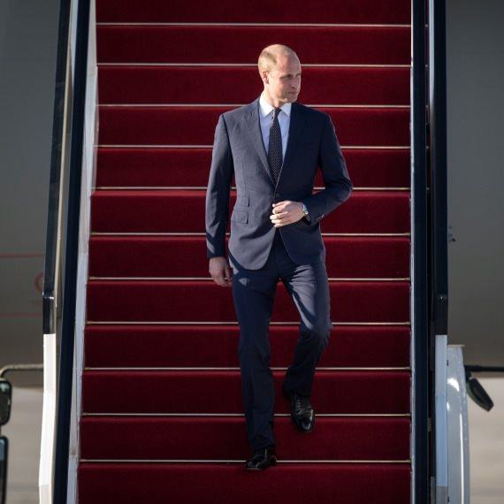 הנסיך וויליאם בשדה התעופה בישראל