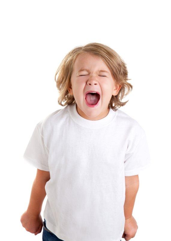 ילד צועק