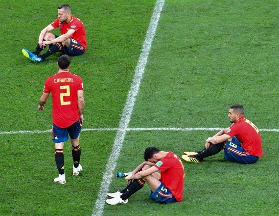 נבחרת ספרד לאחר ההפסד