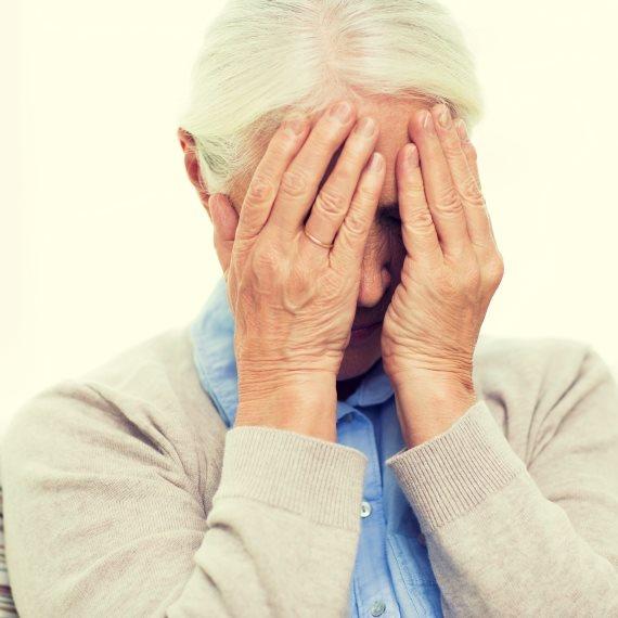 סבתא עצובה
