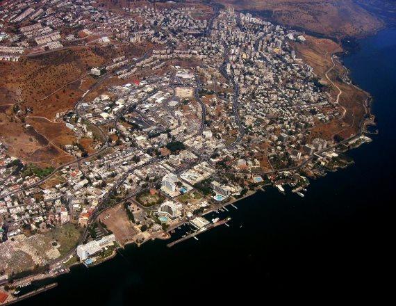 העיר טבריה - צילום אווירי