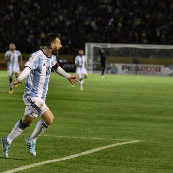 ליאו מסי במדי נבחרת ארגנטינה