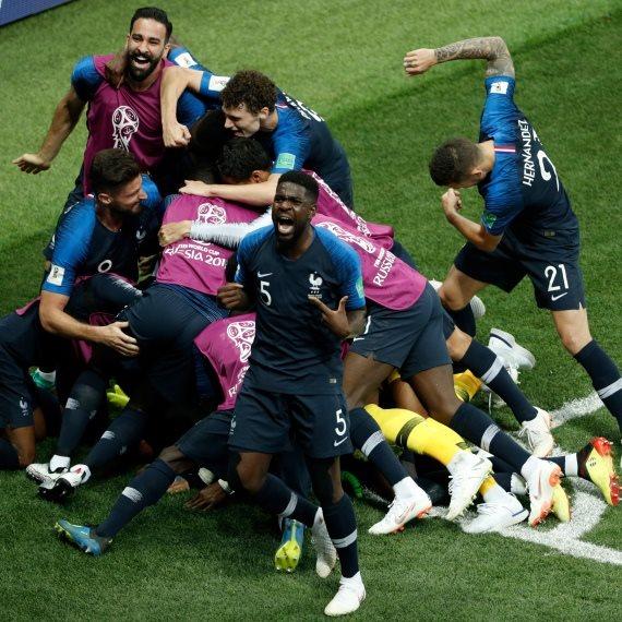 נבחרת צרפת אחרי הניצחון במונדיאל
