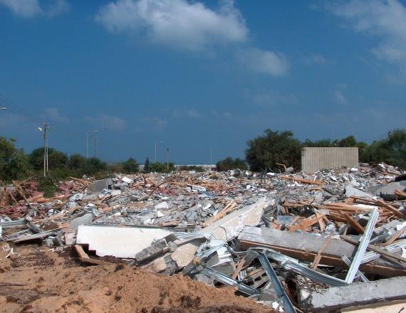 שרידי בית בכפר דרום לאחר ההינתקות
