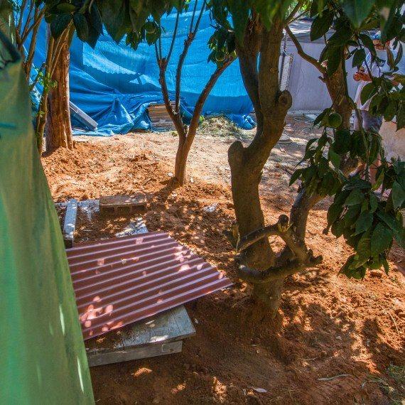 המקום בו נטמנה אופירה חיים לאחר שנרצחה