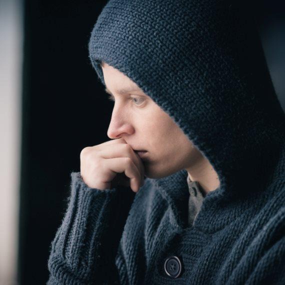 גבר בדיכאון