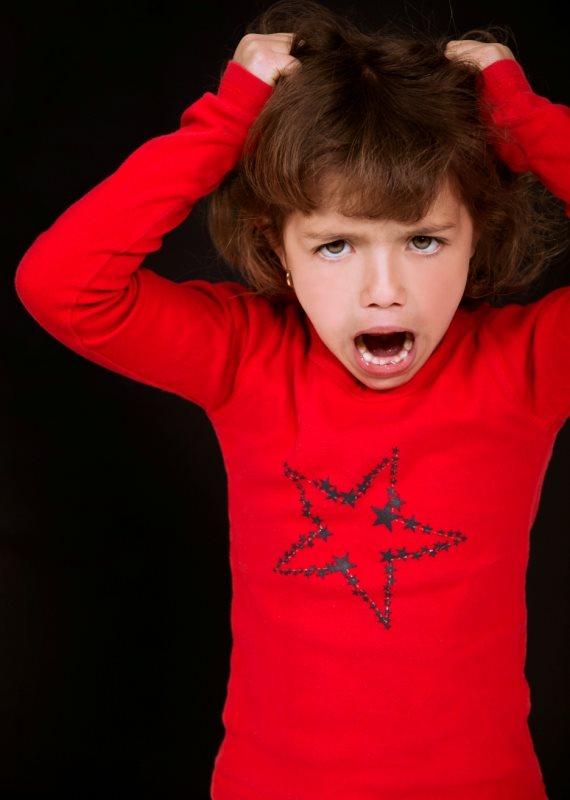 ילדה כועסת