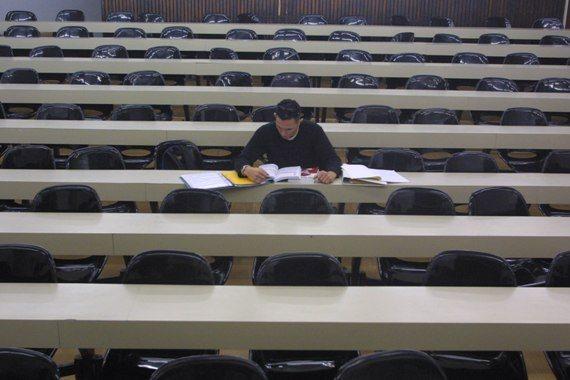 סטודנט בכיתה