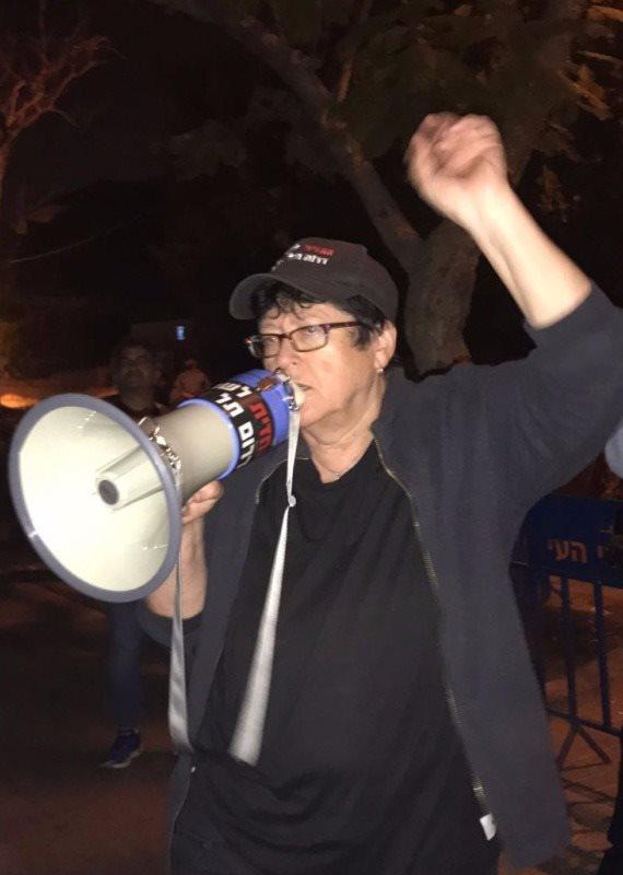 שפי פז במהפגנה של תושבי דרום תל אביב