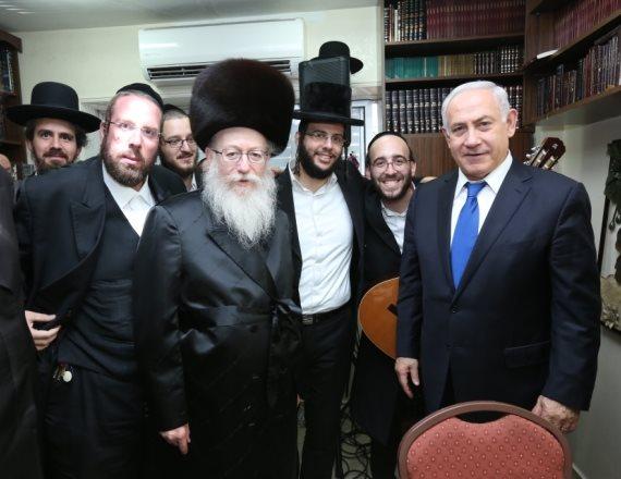 ראש הממשלה בנימין נתניהו וסגן שר הבריאות יעקב ליצמן