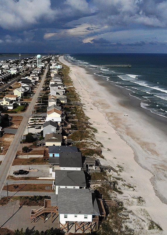 פינוי בתים בקרלוינה בעקבות הוריקן פלורנס