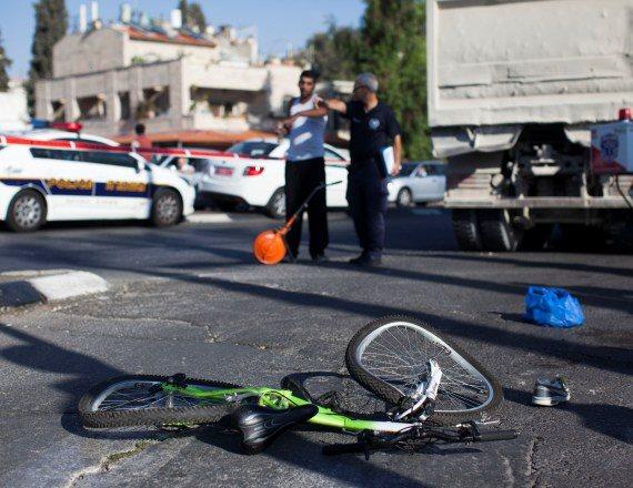 אופניים מעורבים בתאונה (צילום אילוסטרציה)
