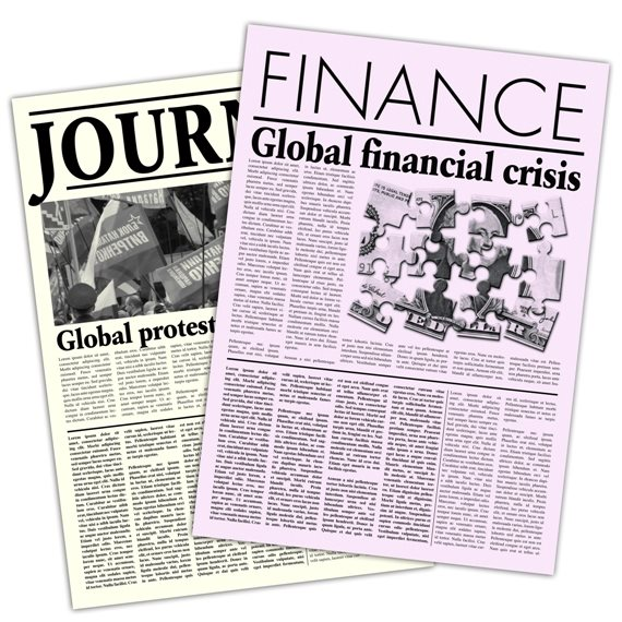 ענת דוידוב עם כותרות הכלכלה של היום