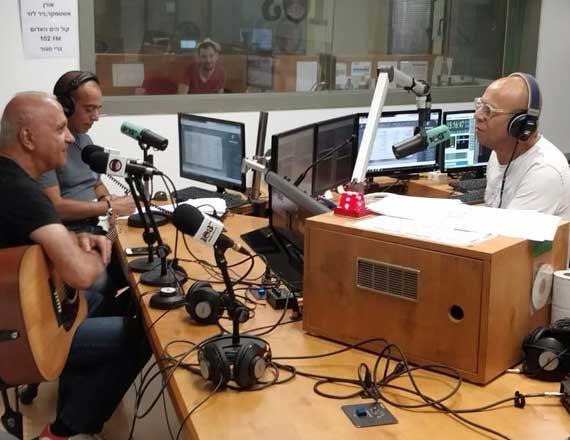 מיקי גבריאלוב באולפן עם דידי הררי ורון שלום (הרון הרון)
