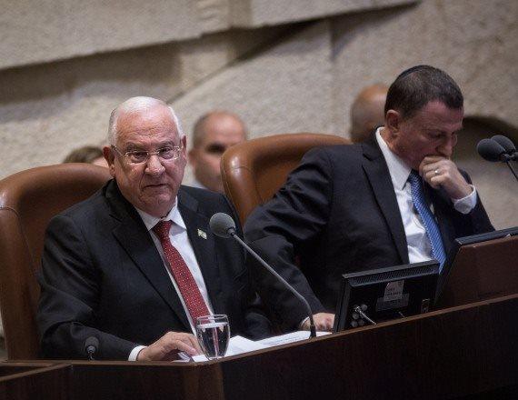 """יו""""ר הכנסת יולי אדלשטיין ונשיא המדינה ראובן ריבלין"""