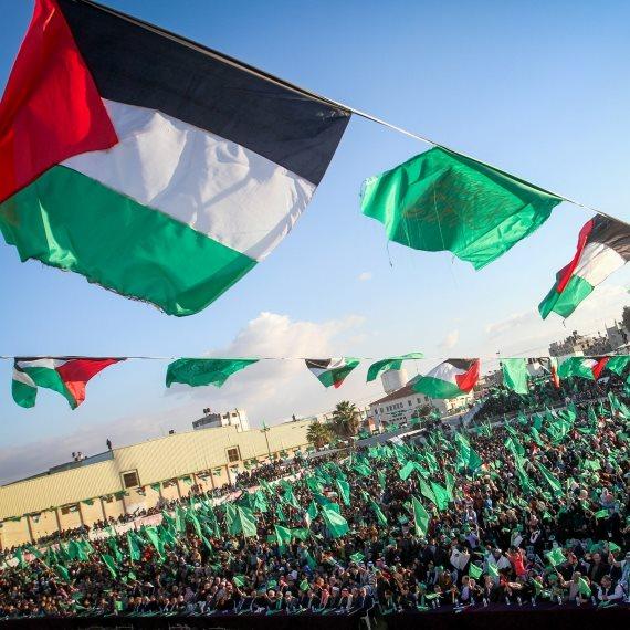 דגלי חמאס בעזה