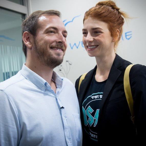 מאיה ורטהיימר ואסף זמיר ביום הבחירות לרשויות המקומיות