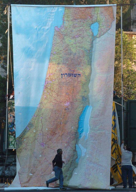 מפה של מדינת ישראל, אילוסטרציה