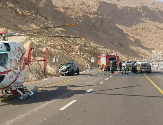 התאונה בכביש 90 בים המלח