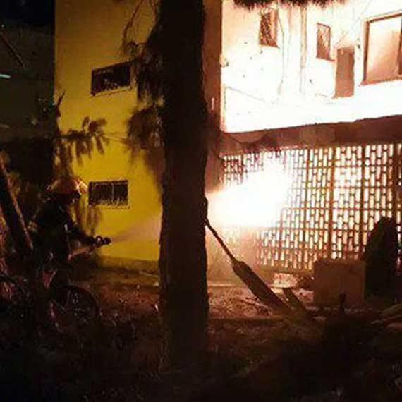 הבניין שנפגע באשקלון, אמש