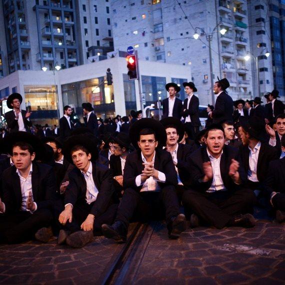 חרדים מפגינים בירושלים הערב (ד')